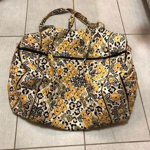 Vera Bradley large duffle yellow black white